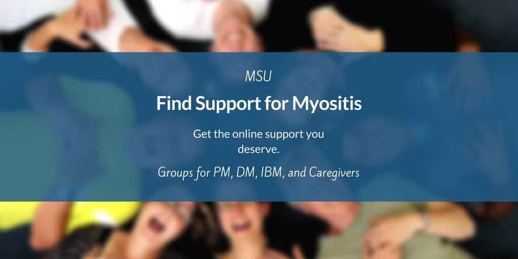Online support groups for Myositis patients, caregivers, family members and friends