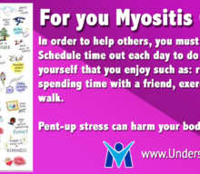 Myositis Caregivers take a break