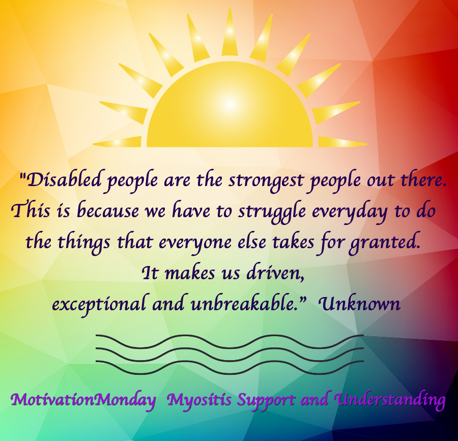 motivation monday myositis support and understanding