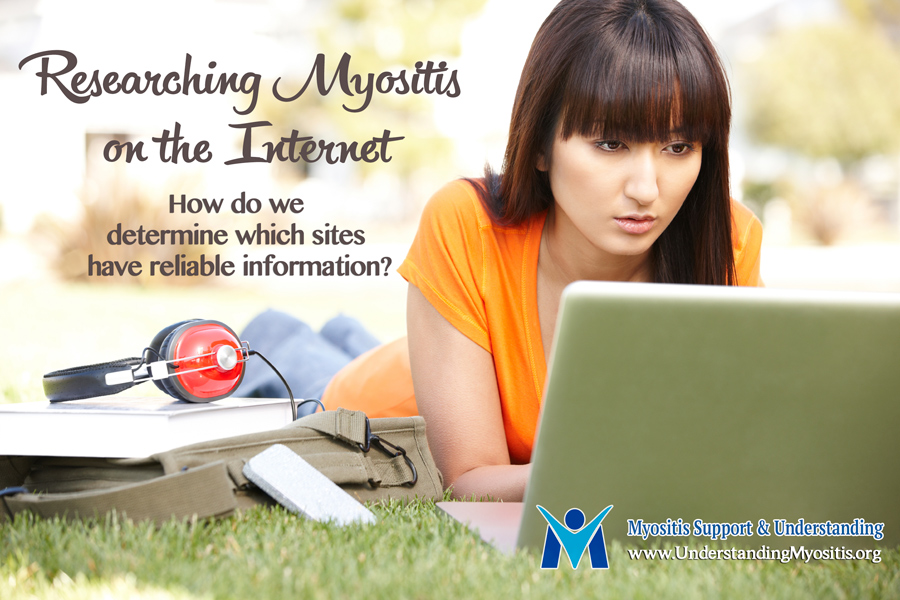 Researching Myositis on the web