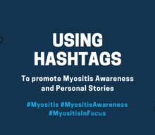 Use Hashtags to promote Myositis