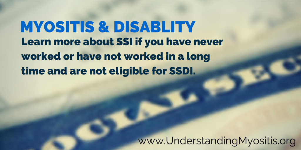 Myositis and disability, social security
