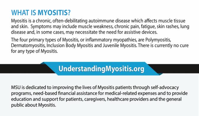 Myositis information cards, MSU