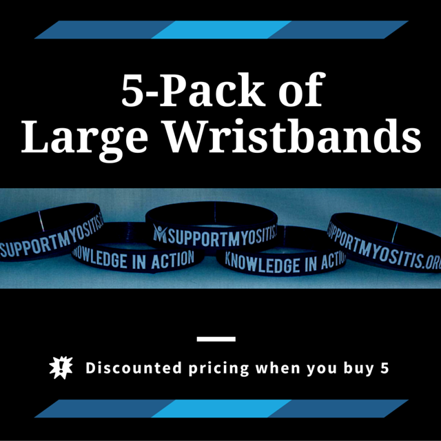 5-pack of Myositis wristbands