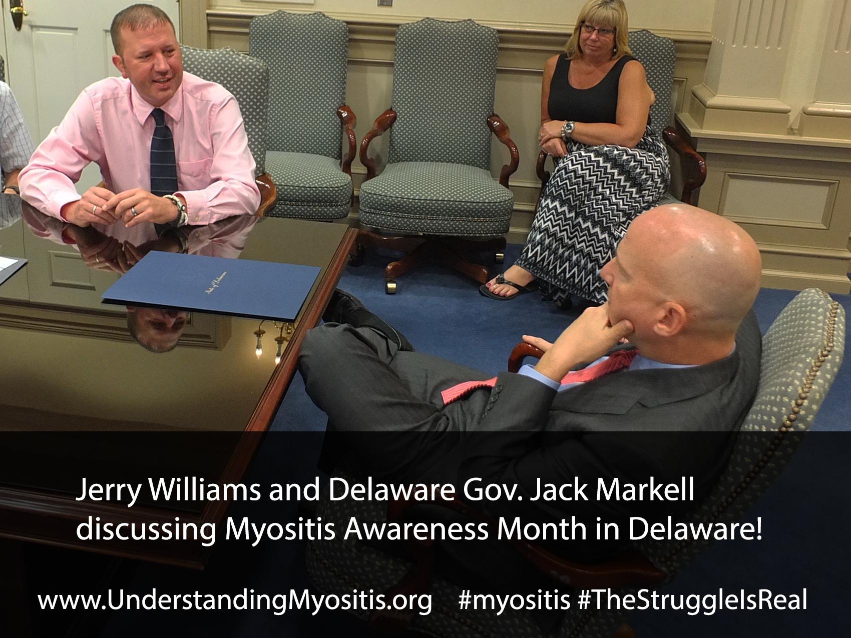 Delaware declares September 2015 Myositis Awareness Month