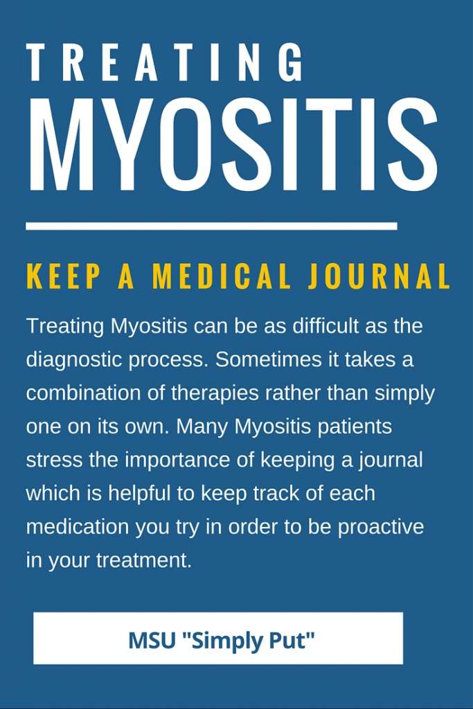 Treating Myositis, Keeping a medical journal