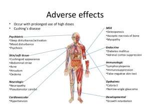 Adverse effects of taking prednisone