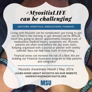 Myositis life can be challenging