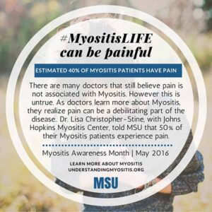 MyositisLIFE can be painful