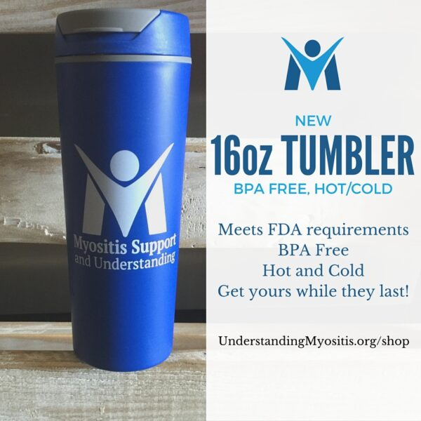 16oz MSU Myositis Hot/cold tumbler