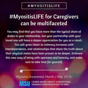 MyositisLIFE for caregivers
