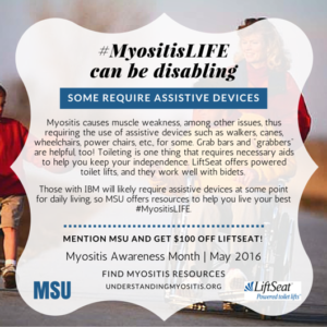 Myositis can be disabling