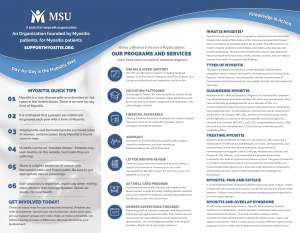 MSU Myositis Brochure