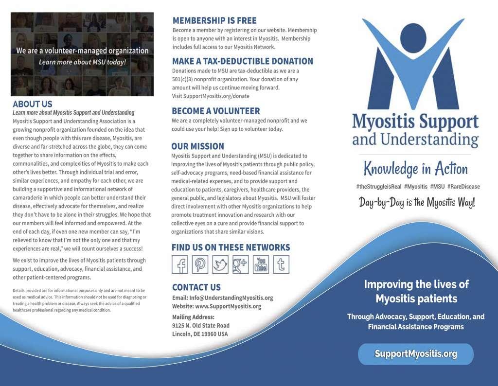 msu myositis brochures myositis support and understanding