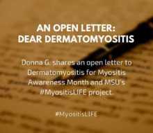 My Myositis Life, an open letter