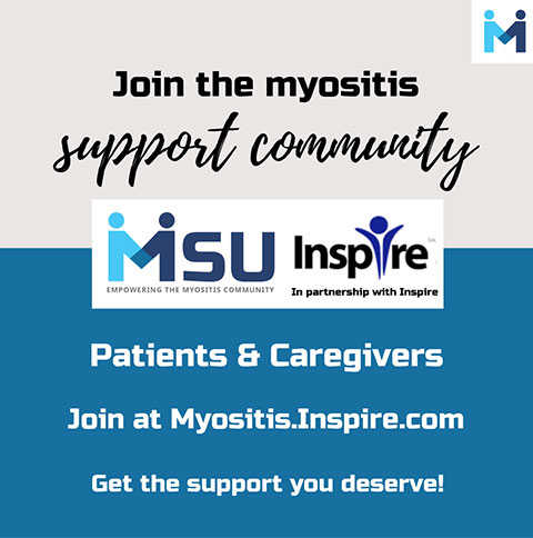 Join the Myositis Support and Understanding, MSU, support community