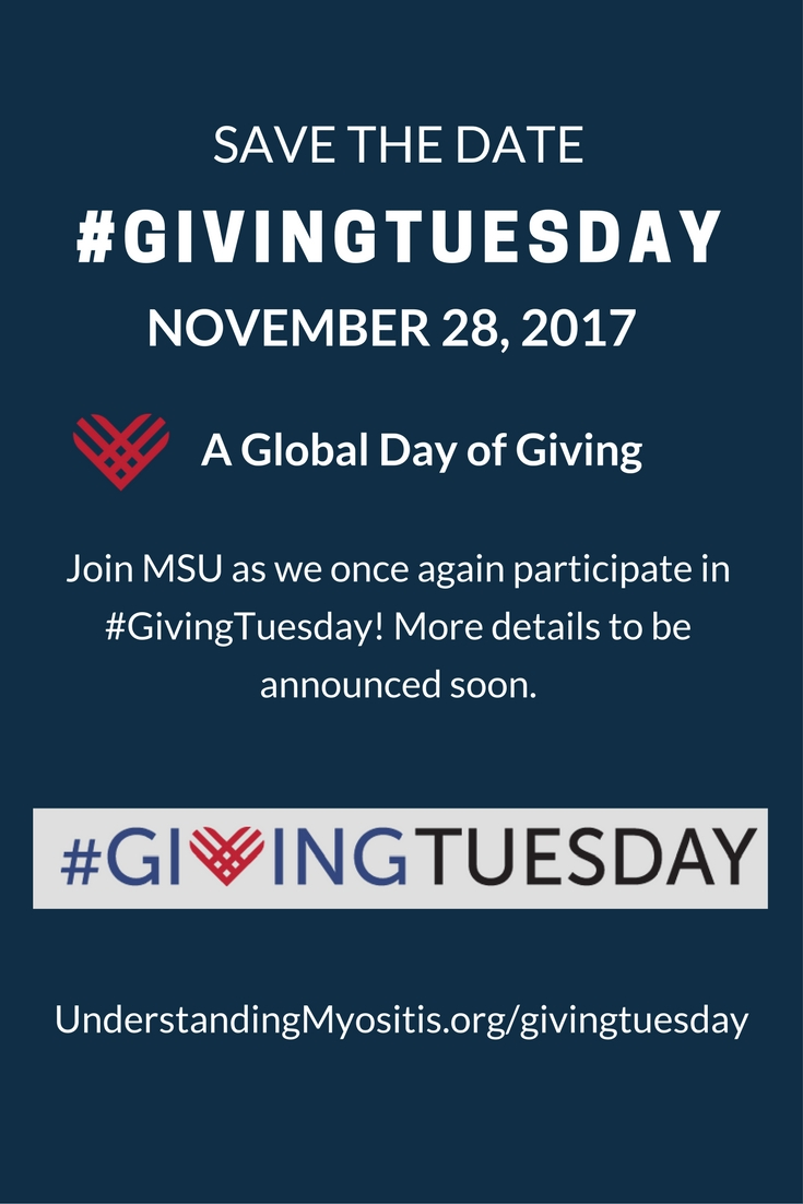 Save the Date, #GivingTuesday November 28, 2017