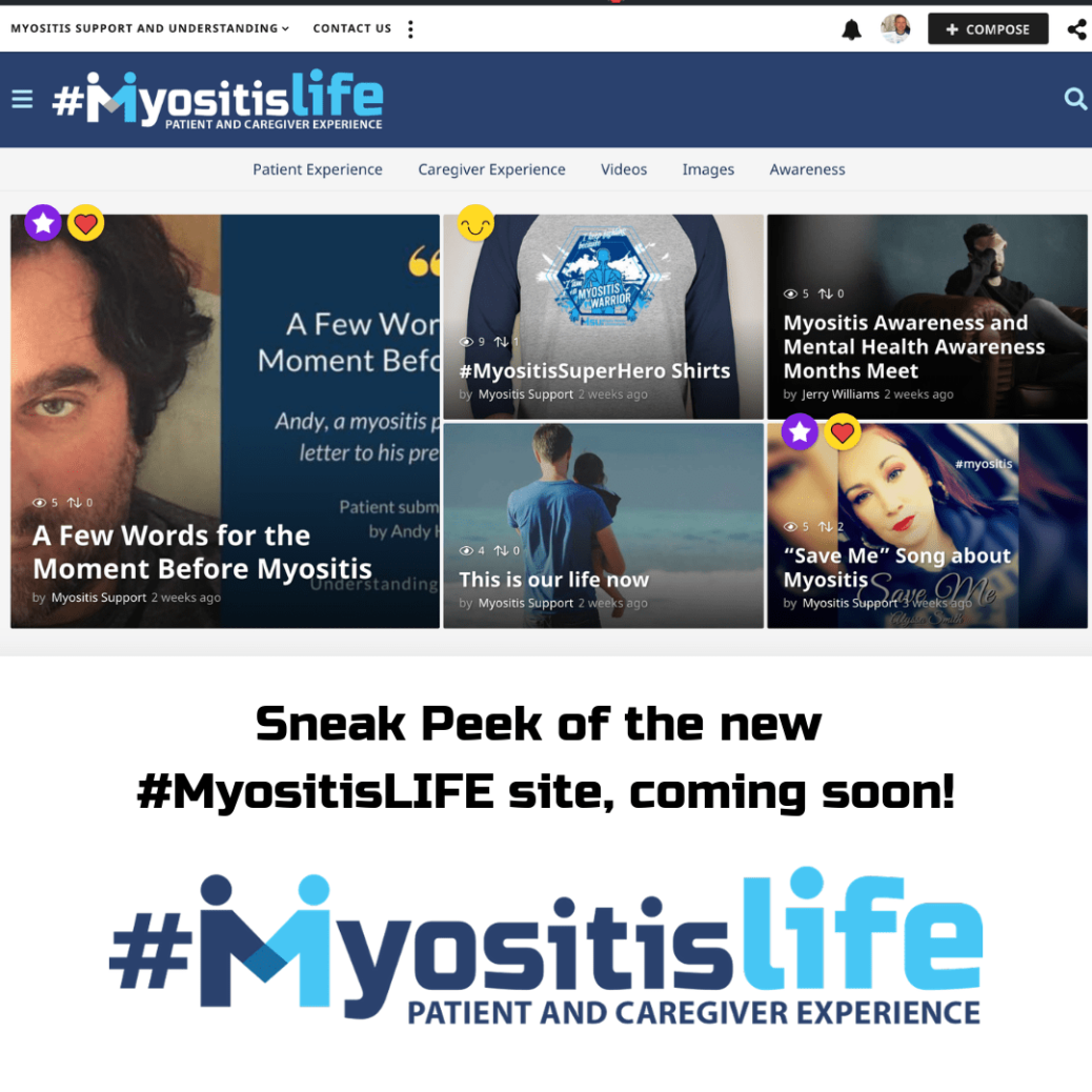 #MyositisLIFE site coming soon