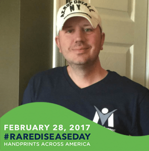Founder and President of MSU, Jerry Williams, showing support for Rare Disease Day 2017