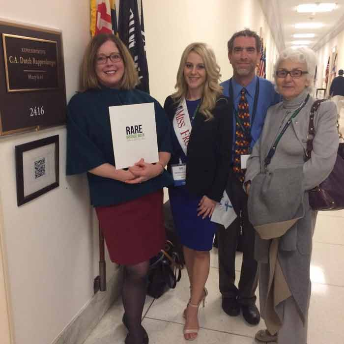 Rose at Rare Disease Week on Capitol Hill, 2017