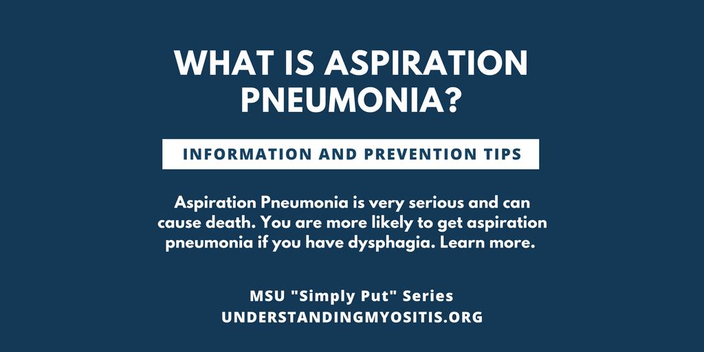 Aspiration Pneumonia Myositis Support And Understanding