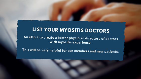 List your Myositis Doctors