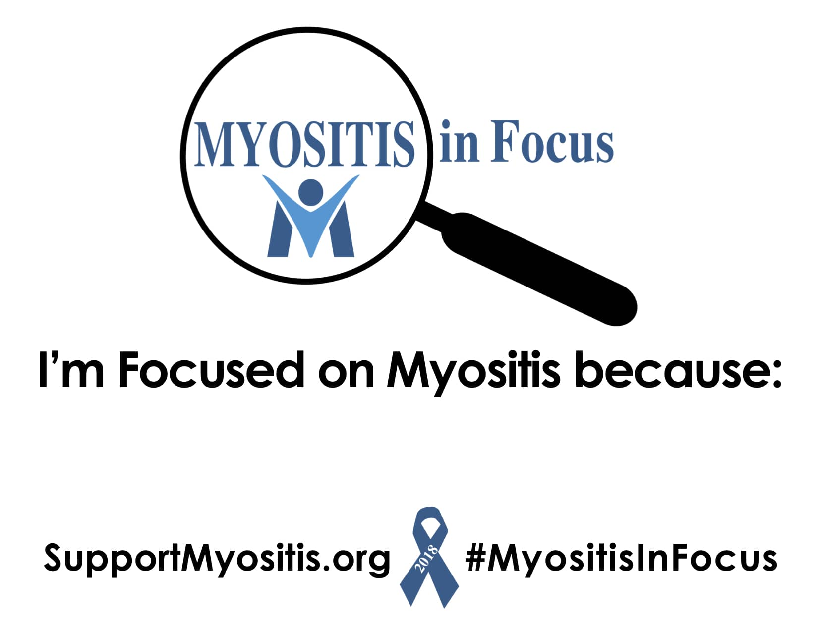 Myositis In Focus, Awareness Sign, English