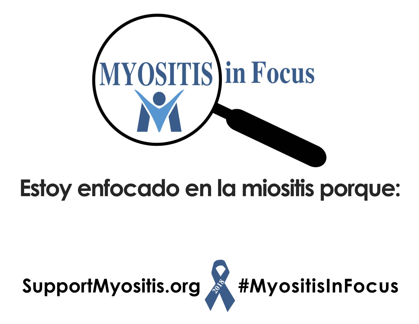 Myositis In Focus, Awareness Sign, Spanish