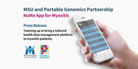 MSU and Portable Genomics, teaming up to bring a tailored health data management platform to myositis patients