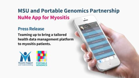 PR: MSU, Portable Genomics teaming up to bring a tailored health data management platform to myositis patients