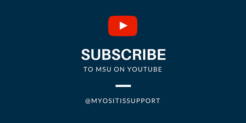 Subscribe to MSU on YouTube