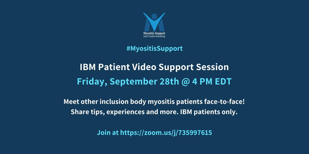 Inclusion body Myositis patient live video support session