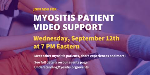 Myositis Patient Online Video support session