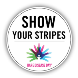 #ShowYourStripes for Rare Disease Day