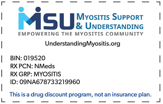 Myositis Support and Understanding NeedyMeds Discount Card