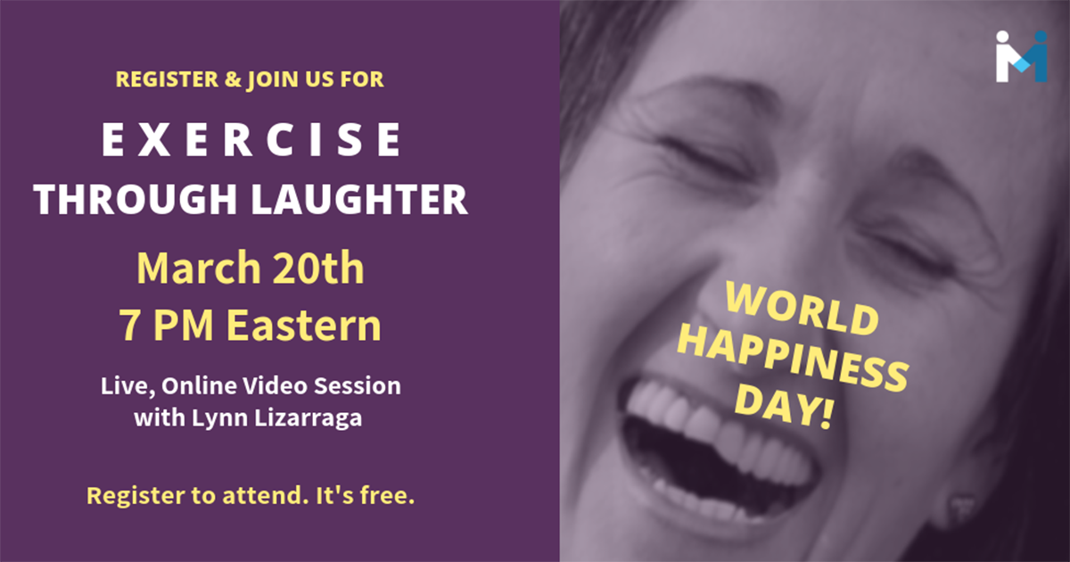 Exercise Through Laughter Video Session, March 20th online