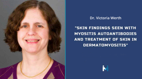 Skin findings seen with myositis autoantibodies and treatment of skin in dermatomyositis