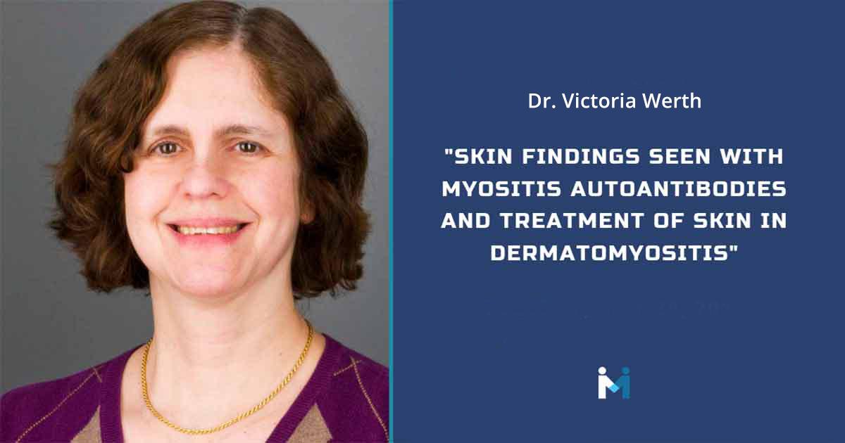 Skin findings seen with myositis autoantibodies and treatment of skin in dermatomyositis