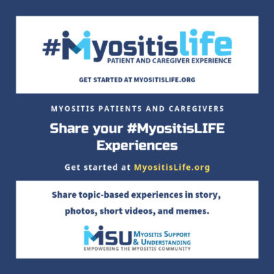 Myositis Life website, patient and caregiver experiences