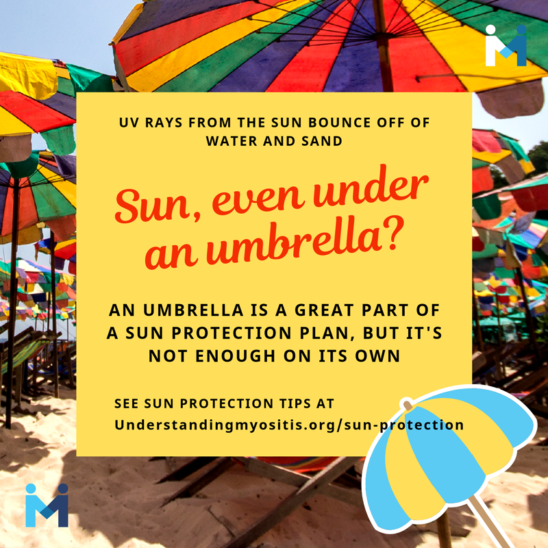 You can get sun even under an umbrella