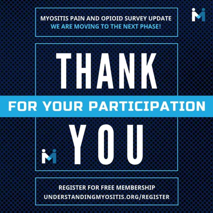 Myositis Pain and Opioids survey update