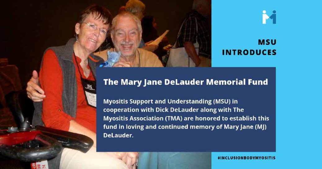 Announcing the Mary Jane DeLauder Memorial Fund for