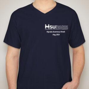 2019 MyositisLIFE t-shirt front