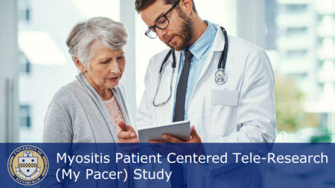 "Myositis Support and Understanding Association is partnering with the University of Pittsburgh for a new NIH-sponsored study entitled, ""Myositis Patient Centered Tele-Research (My-PACER)."""