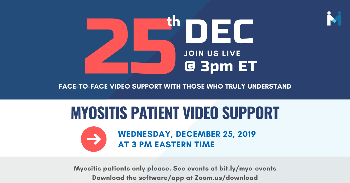 Christmas Day Myositis Patient Video Support
