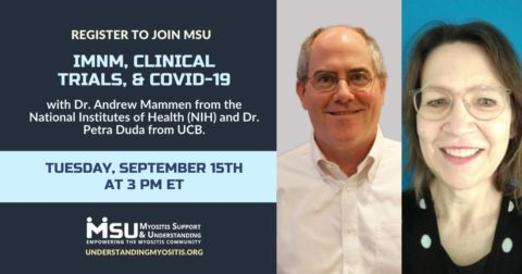 IMNM, Clinical Trials, & COVID-19 event