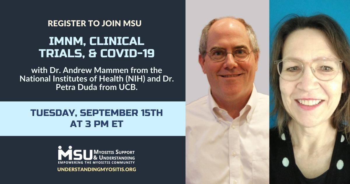 IMNM, Clinical Trials, & COVID-19 event