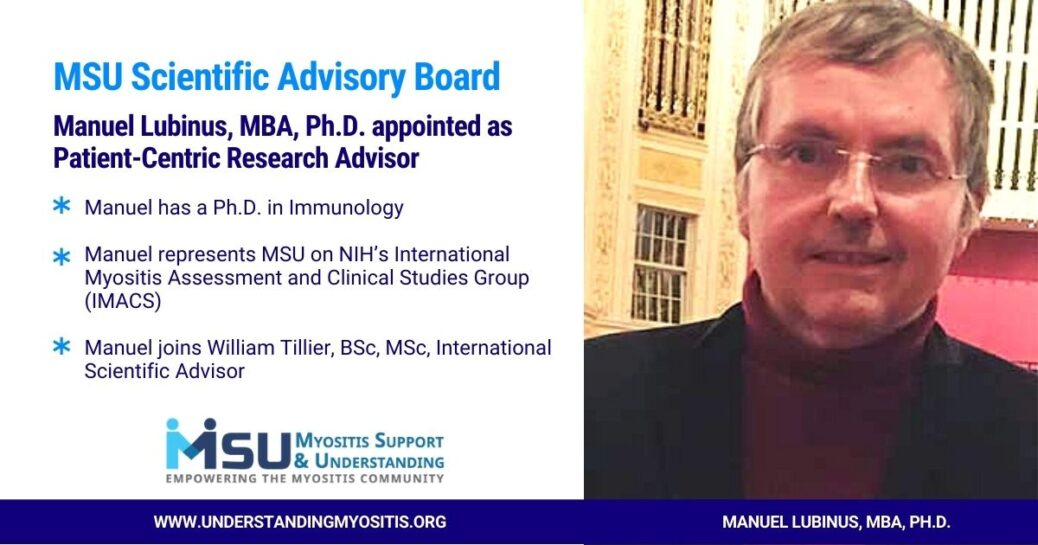 Manuel Lubinus, MBA, Ph.D. appointed as Patient-Centric Research Advisor
