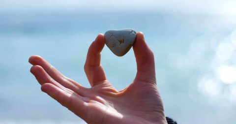 The Power of Forgiveness:  How it can help care partners image of a heart shaped rock