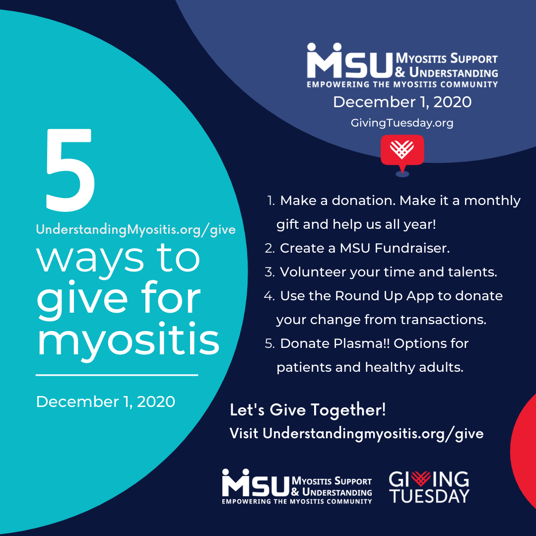 5 Ways to Give for myositis
